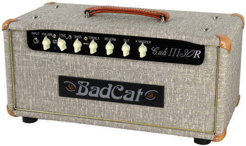 Bad Cat Cub III 30R Reverb Handwired Head - Fawn Slub