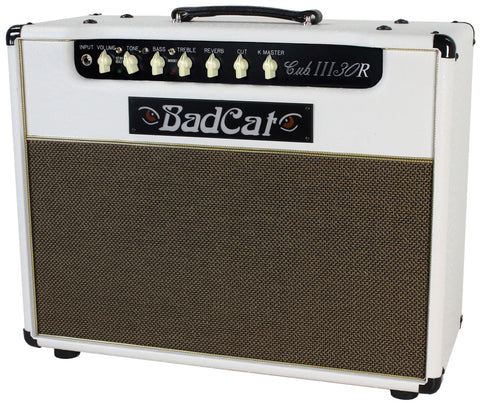 Bad Cat Cub III 30R Reverb Combo Amp - White Ostrich