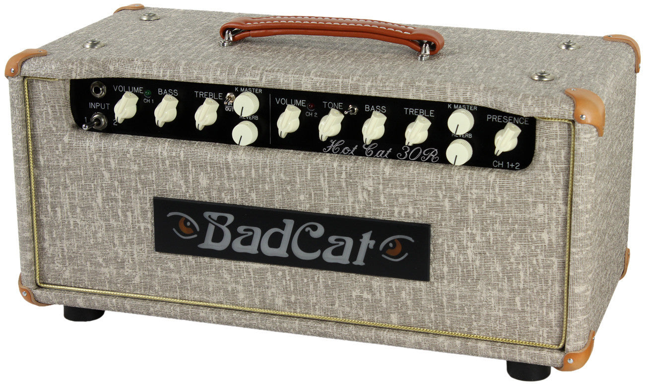 Harmonicas For Sale >> Bad Cat Hot Cat 30R Reverb Handwired Head - Fawn Slub ...