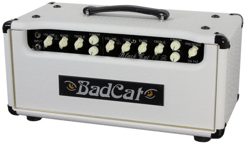 Bad Cat Black Cat 15R Reverb Head - White Ostrich