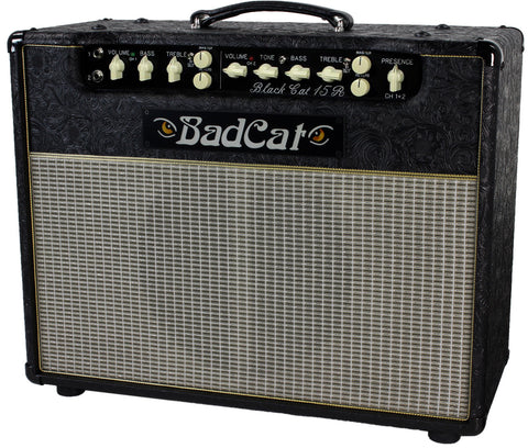 Bad Cat Black Cat 15R Reverb Combo Amp - Black Western