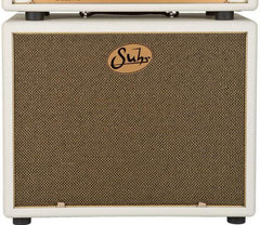 Suhr 1x12 Speaker Cabinet - Ivory / Gold Grille