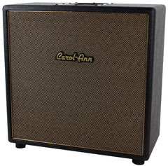 Carol-Ann 1x12 Unloaded Cabinet in Black - Tan Grill, Gold Logo