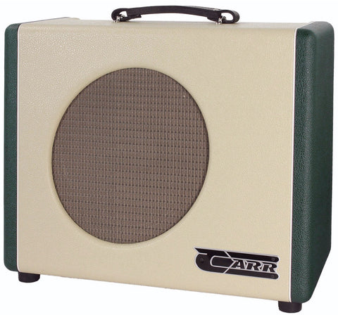 Carr Mercury V 1x12 Combo Amp, Cream, Emerald Green
