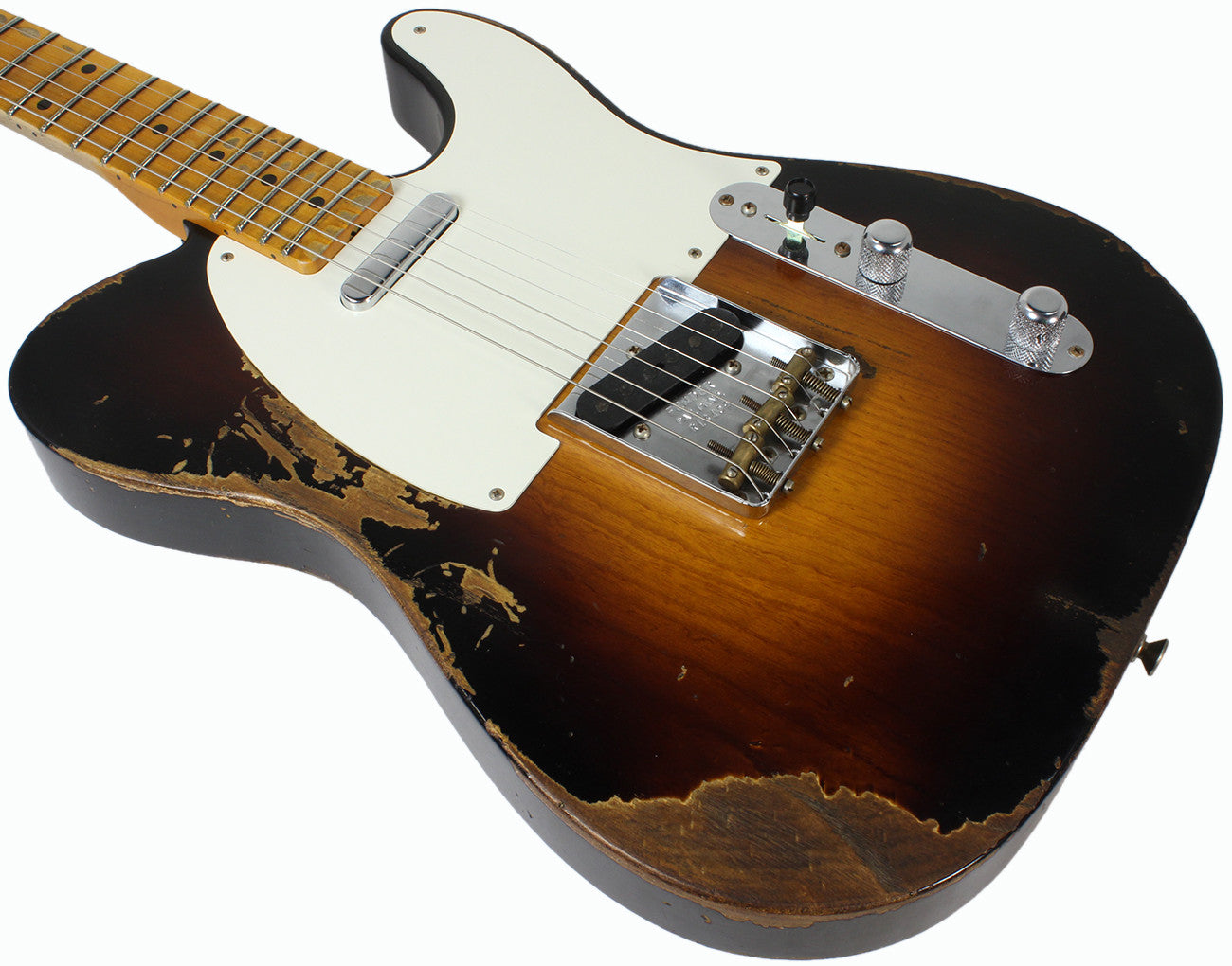 Fender Custom Shop 1953 Heavy Relic Telecaster Wide Fade 2 Color Pickup Wiring Sunburst