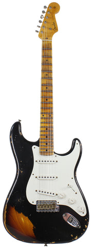 Fender Custom Shop 1955 Heavy Relic Stratocaster - Aged Black over 2-Tone