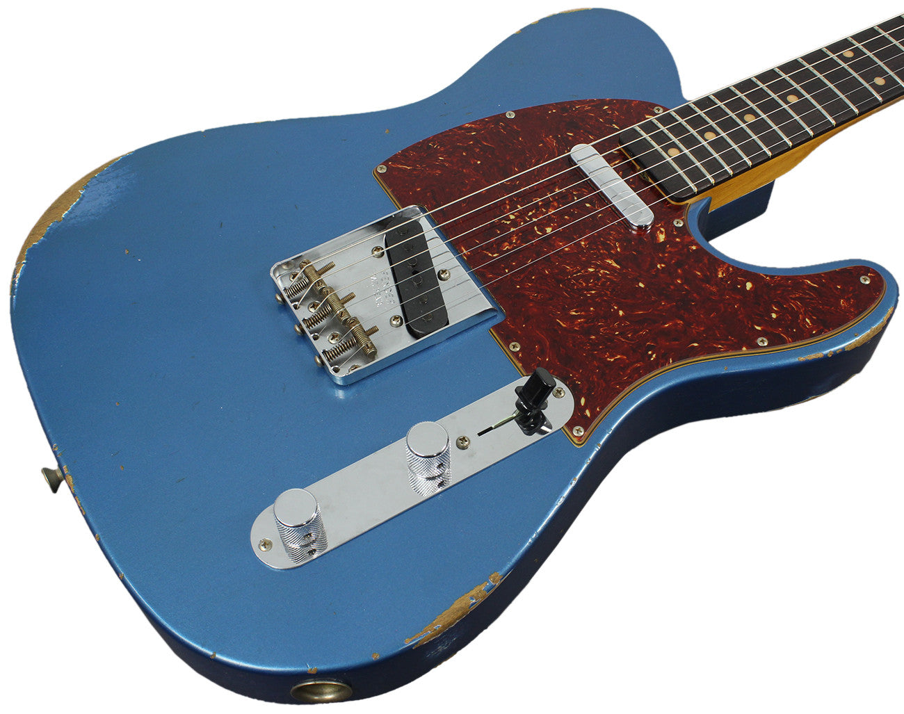 fender custom shop 1961 relic telecaster aged lake placid blue humbucker music. Black Bedroom Furniture Sets. Home Design Ideas