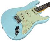 Fender Custom Shop 1963 Journeyman Relic Stratocaster - Faded Aged Daphne Blue - NAMM