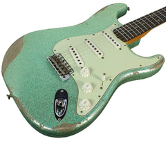 Fender Custom Shop 60s Heavy Relic Compound Radius Strat - Sea Foam Green Sparkle - NAMM