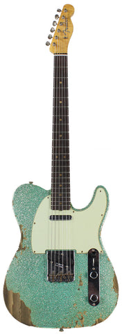 Fender Custom Shop 60s Heavy Relic Compound Radius Tele - Sea Foam Green Sparkle - NAMM