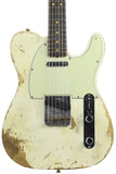 Fender Custom Shop 63 Heavy Relic Compound Radius Tele - Aged Olympic White - NAMM