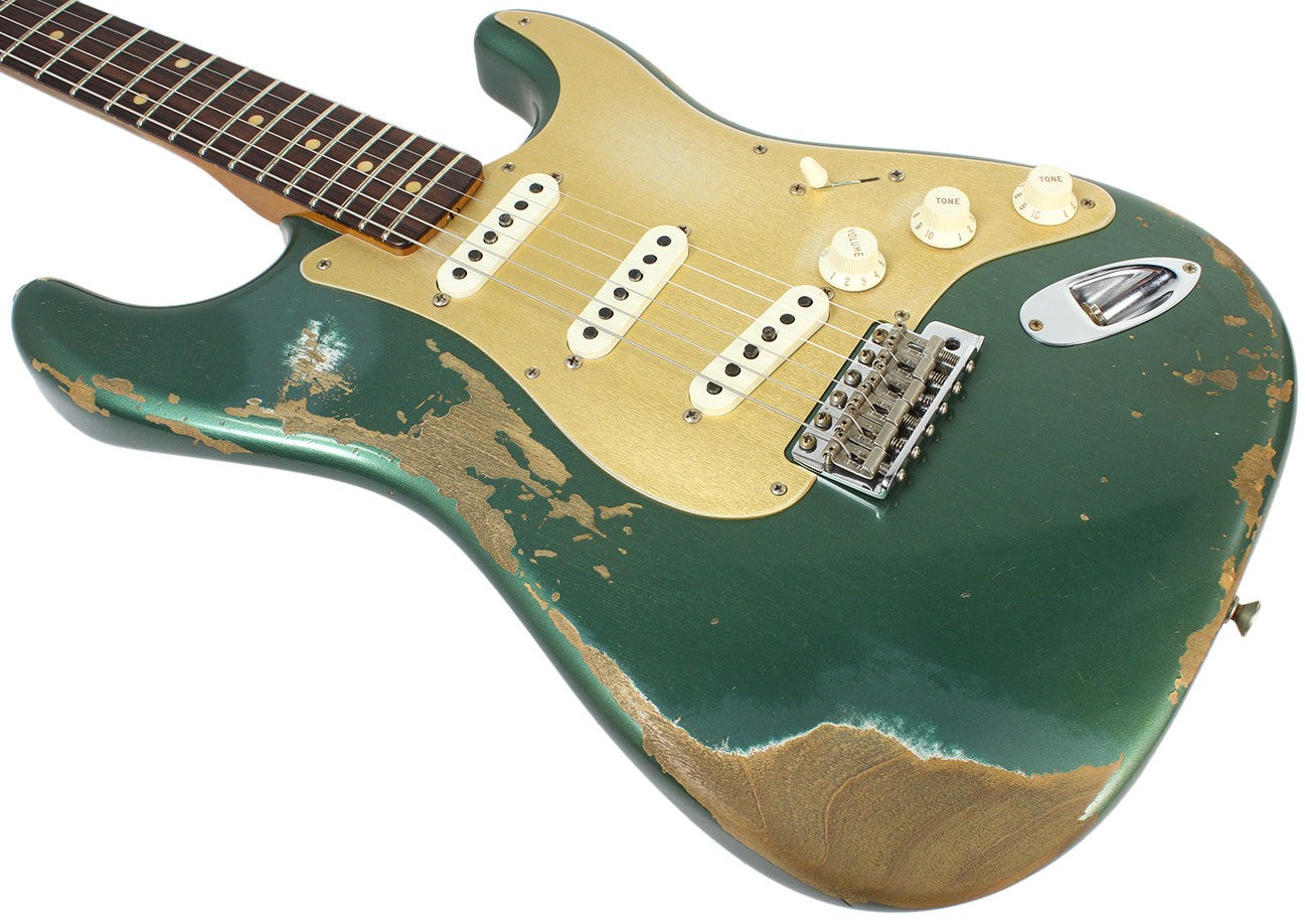 fender custom shop 1959 heavy relic stratocaster aged sherwood green humbucker music. Black Bedroom Furniture Sets. Home Design Ideas