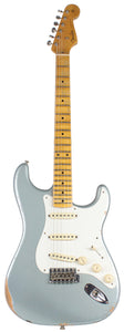Fender Custom Shop 58 Relic Strat Guitar, Super Faded Ice Blue Metallic