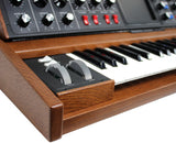 Moog Minimoog Voyager Select Blue - Antique Tiger Oak - #2498