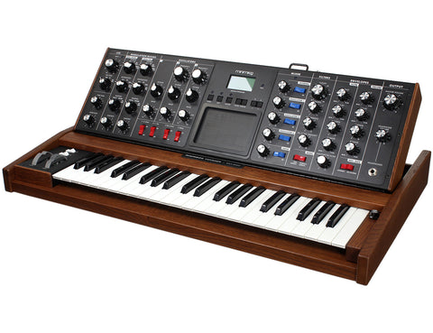 Moog Minimoog Voyager Select Blue - Antique Tiger Oak - #2499