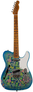 Fender Custom Shop LTD Double Esquire Thinline Custom Relic, Blue Flower