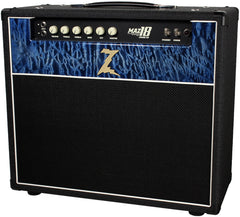 Dr. Z Maz 18 Jr NR 1x12 - Custom 5A Blue Quilted Maple