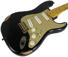Nash S-57 Guitar, Black w/ Gold Pickguard