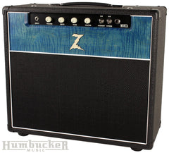 Dr. Z Monza 1x12 Combo - Custom Blue Flamed Maple