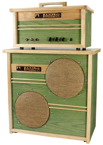 Analog Outfitters Organic 15 Head and 2x10 Cab - Mint Green - Humbucker Music