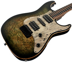 Suhr Custom Standard Guitar in Faded Trans Green Burst