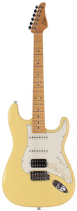 Suhr Classic S HSS Guitar, Vintage Yellow, Maple