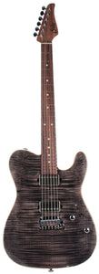 Suhr Modern T Select Guitar, Trans Charcoal Burst