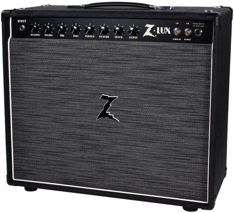 Dr. Z Z-Lux 1x12 Combo - Black / ZW Grill - White Piping