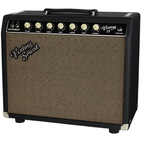 Vintage Sound Vintage 15 - Black - Tan Grill