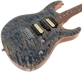 Suhr Modern Select Guitar, Quilted Maple, Trans Blue Denim Slate
