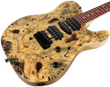 Suhr Custom Classic T Natural Buckeye Burl, Swamp Ash Body