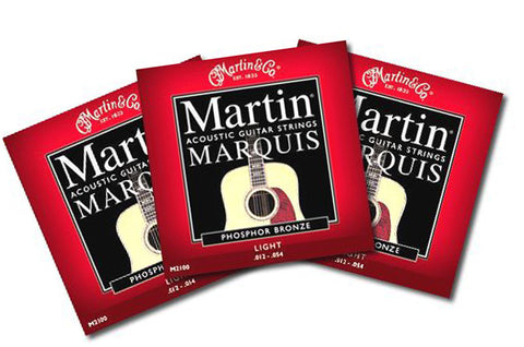 Martin Marquis Acoustic Light Strings - .012 - .054 - 3 Sets