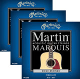 Martin Marquis Acoustic Medium Gauge Strings - .013 - .056 - 3 Sets