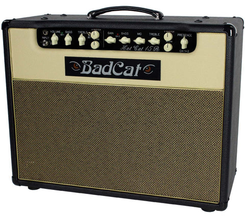 Bad Cat Hot Cat 15R Reverb Handwired 1x12 Combo Amp - Black / Cream