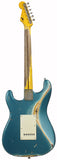 Nash S-57 Guitar, Ocean Turquoise over 3 Tone Sunburst
