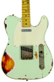 Nash T-57 Guitar, Surf Green over 3 Tone Sunburst