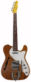 Nash T-69 Thinline Guitar, Natural Mahogany, Bigsby