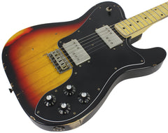 Nash T-72DLX Guitar, 3 Tone Sunburst, Medium Aging