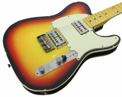 Nash T-2HB Guitar, 3 Tone Sunburst, Lollartrons, Maple