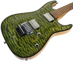 John Suhr Select Standard Carve Top - Green Quilted Maple