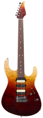 Suhr Custom Modern Carve Top - Desert Gradient Angel Quilt