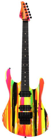 Suhr 80s Shred MKII Guitar - Neon Drip - Ebony