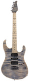 Suhr Modern Pro Guitar, Trans Blue Denim Slate, Maple, Matching Headstock