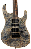 Suhr Custom Modern Waterfall Burl - Trans Blue Denim Slate