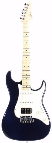 Suhr Throwback Standard Pro Guitar, Mercedes Blue, Maple