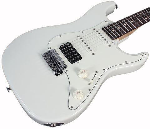 Suhr Throwback Standard Pro Guitar, Olympic White, Rosewood