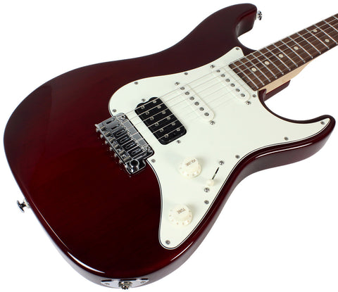 Suhr Throwback Standard Pro Guitar, Trans Red, Rosewood