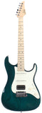 Suhr Throwback Standard Pro Guitar, Trans Teal, Maple