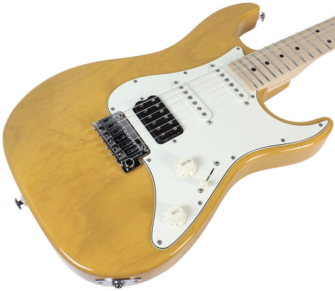 Suhr Throwback Standard Pro Guitar, Trans Straw, Maple