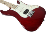 Suhr Throwback Standard Pro Guitar, Trans Red, Maple